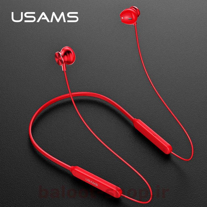 هندزفری بیسیم (Wireless) یوسمز مدل S1 دارای رنگهای قرمز و سیاه