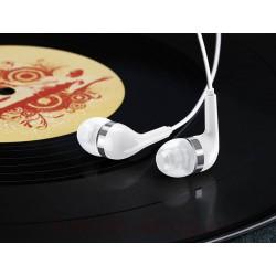 هندزفری سیم دار یوسمز مدل EP-23 دارای سریهای داخل گوش قابل تعویض در اندازههای مختلف