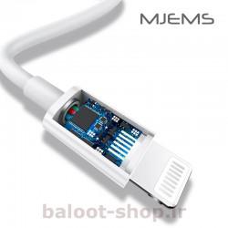 کابل شارژ و داده یوسمز مدل MJEMS M1 نوع Type-C به Lightning دارای آی سی هوشمند و استاندارد MFi