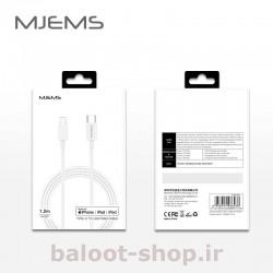 کابل شارژ و داده یوسمز مدل MJEMS M1 نوع Type-C به Lightning با بسته بندی مناسب