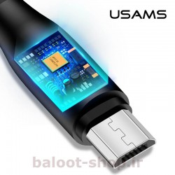 کابل شارژ و داده یوسمز مدل U18 نوع Micro دارای آی سی هوشمند برای حفاظت از گوشی و باتری در هنگام شارژ