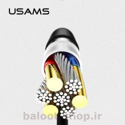 کابل شارژ و داده یوسمز مدل U18 نوع Micro تهیه شده از مواد با کیفیت و با کارایی بالا در شارژ و انتقال اطلاعات
