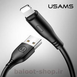 کابل شارژ و داده یوسمز مدل U18 نوع Lightning دارای قابلیت فست شارژ با جریان عبوری 2 آمپر قابل استفاده با محصولات اپل