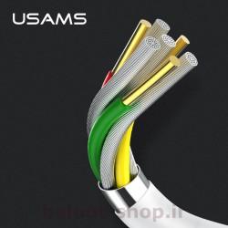 کابل شارژ و داده یوسمز مدل U23 نوع type-c تهیه شده از مواد با کیفیت و با کارایی بالا در شارژ و انتقال اطلاعات