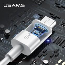 کابل شارژ و داده یوسمز مدل U23 نوع Micro دارای آی سی هوشمند برای حفاظت از گوشی و باتری در هنگام شارژ