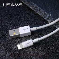 کابل شارژ و داده یوسمز مدل U23 نوع Lightning با قابلیت فست شارژ با جریان عبوری 2 آمپر مناسب محصولات اپل