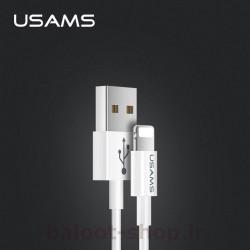 کابل شارژ و داده یوسمز مدل U23 نوع Lightning دارای قابلیت انتقال اطلاعات بین گوشی و کامپیوتر با سرعت بالا