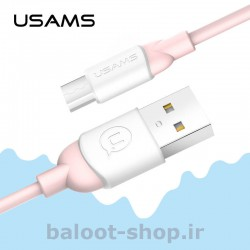 کابل شارژ و داده یوسمز مدل US-SJ247 نوع Micro مقاوم در برابر کشش و دارای طول عمر بالا