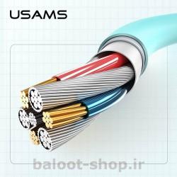 کابل شارژ و داده یوسمز مدل US-SJ246 نوع Type-C ساخته شده از مواد با کیفیت با کارایی بالا در شارژ و انتقال اطلاعات
