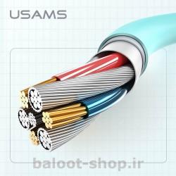 کابل شارژ و داده یوسمز مدل US-SJ245 نوع Lightning ساخته شده از مواد با کیفیت با کارایی بالا در شارژ و انتقال اطلاعات