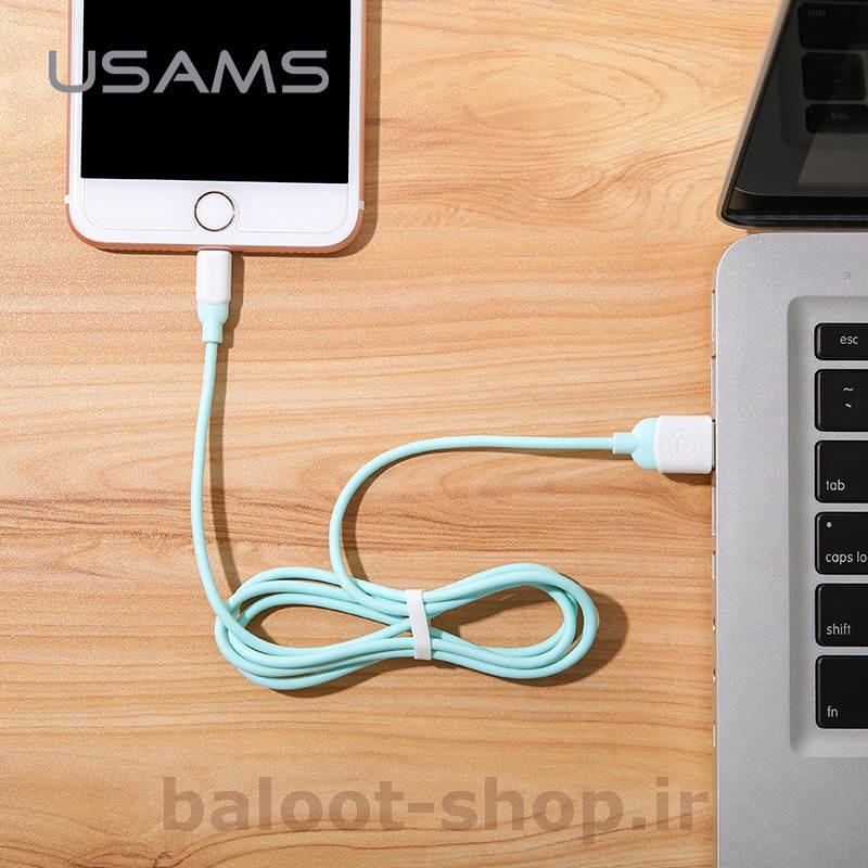 کابل شارژ و داده یوسمز مدل US-SJ245 نوع Lightning مخصوص محصولات اپل با قابلیت فست شارژ و انتقال اطلاعات با سرعت بالا