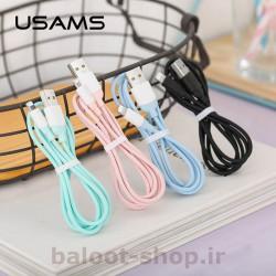 کابل شارژ و داده یوسمز مدل US-SJ245 نوع Lightning در رنگهای متنوع و شاد
