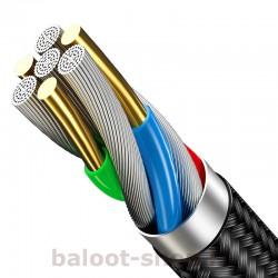 کابل شارژ و داده یوسمز مدل U5 نوع Micro ساخته شده از مواد با کیفیت با کارایی بالا در شارژ و انتقال اطلاعات