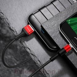 کابل شارژ و داده یوسمز مدل U5 نوع Micro دارای قابلیت فست شارژ با جریان عبوری 2 آمپر