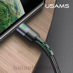 کابل شارژ و داده یوسمز مدل U26 نوع Lightning قابل انعطاف و مقاوم و دارای طول عمر بالا