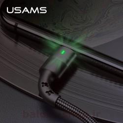 کابل شارژ و داده یوسمز مدل U26 نوع Lightning دارای نشانگر LED مناسب استفاده در شب