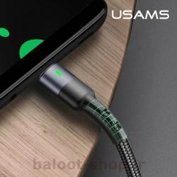 کابل شارژ و داده یوسمز مدل U26 نوع Type-C قابل انعطاف و مقاوم و دارای طول عمر بالا