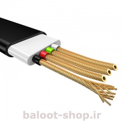کابل شارژ و داده یوسمز مدل U17 نوع Lightning ساخته شده از مواد با کیفیت با کارایی بالا در شارژ و انتقال اطلاعات