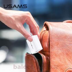 شارژر دیواری یوسمز مدل T22 دارای یک خروجی USB با قابلیت QC 3.0 فست شارژینگ مناسب شارژ کردن گوشی با سرعت بالا در سفرها