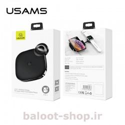 شارژر بیسیم رومیزی یوسمز مدل CD89 فست شارژ و دارای استاندارد شارژ بیسیم Qi با بسته بندی مناسب به همراه یک عدد کابل نوع Type-C