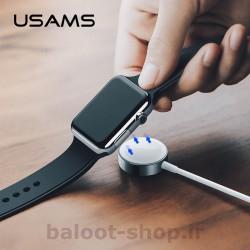شارژر بیسیم رومیزی یوسمز مدل us-cc063 با خروجی 2 وات مناسب شارژ اپل واچ S1 تا S4 با امنیت و کارایی مناسب در شارژ