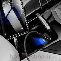 شارژ فندکی یوسمز مدل C7 مینی با دو درگاه USB خروجی فست شارژ هوشمند با جریان 4.8 آمپر و دارای مدارهای محافظتی در هنگام شارژ