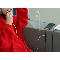 کابل مبدل یوسمز مدل AU01 نوع Lightning با قابلیت استفاده از هندزفری برای گوش دادن به موزیک و پاسخ دادن به تماس در حین شارژ