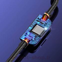 کابل مبدل یوسمز مدل AU01 نوع Lightning دارای آی سی محافظتی برای جلوگیری از صدمه به گوشی و باتری آن در هنگام شارژ