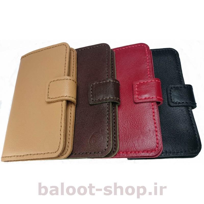کیف و محافظ گوشی تهیه شده از چرم طبیعی و دست دوز در رنگهای متنوع و مناسب انواع گوشیهای آیفون، سامسونگ، هوآوی و سایر مدلها