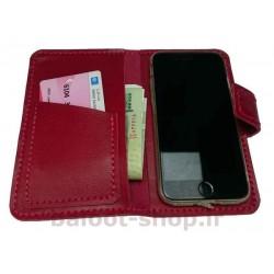 کیف و محافظ گوشی تهیه شده از چرم طبیعی و دست دوز مناسب انواع گوشی، دارای گارد محافظ گوشی، محل مناسب اسکناس و کارت بانکی