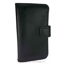 کیف و محافظ گوشی تهیه شده از چرم طبیعی و دست دوز، مناسب انواع گوشی همچون آیفون، سامسونگ و سایر مدلها، به رنگ مشکی