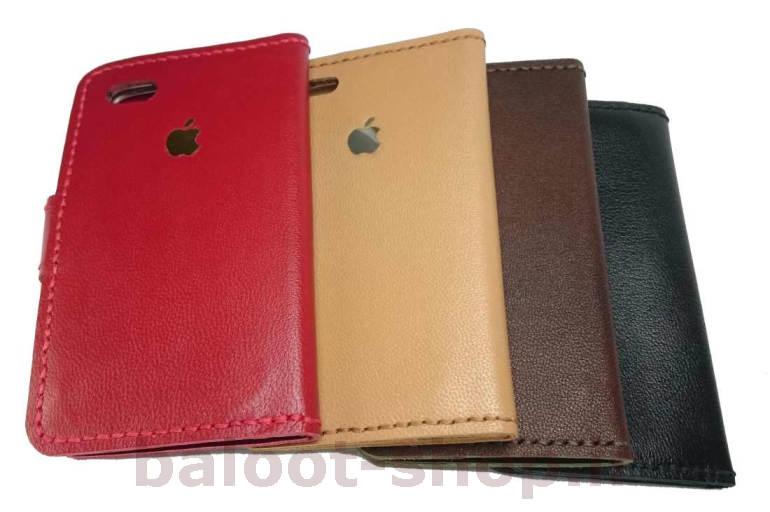 کیف و محافظ انواع گوشی موبایل تهیه شده از چرم طبیعی و دست دوز در رنگهای قرمز، مشکی، قهوهای و کرم و رنگهای متنوع دیگر