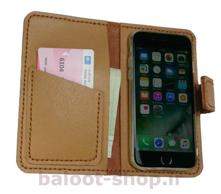 کیف و محافظ انواع گوشی موبایل تهیه شده از چرم طبیعی و دست دوز دارای جای مناسب کارت بانکی و اسکناس